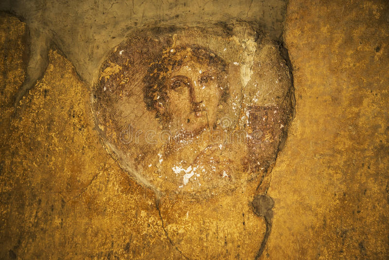 De fresko's van Pompei royalty-vrije stock foto's