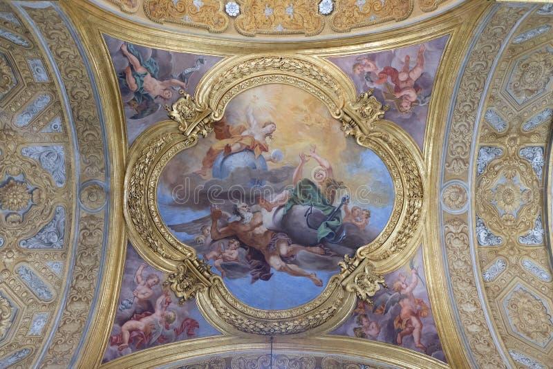 De fresko van deugden van Hoop en Waarheid stock foto's