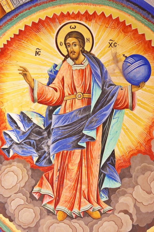 De Fresko van Jesus-Christus stock afbeeldingen