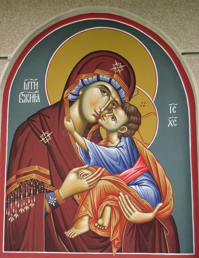 De fresko van Ortodox stock afbeeldingen