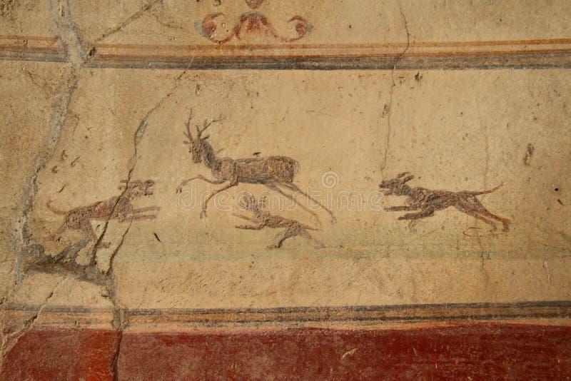 De fresko van Pompei stock fotografie