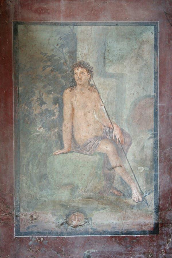 De fresko van Pompei, Napels (Italië) stock fotografie