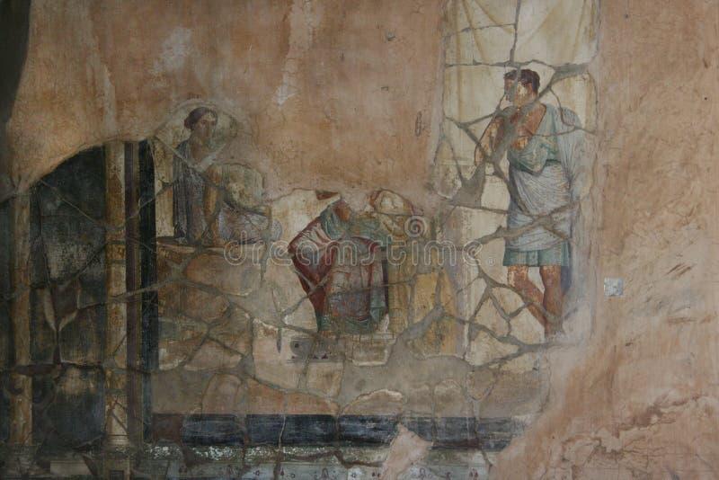 De fresko van Pompei Napels (Italië) stock fotografie