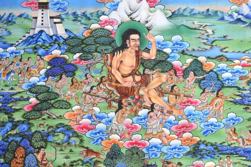 De fresko van Tibet royalty-vrije stock afbeeldingen
