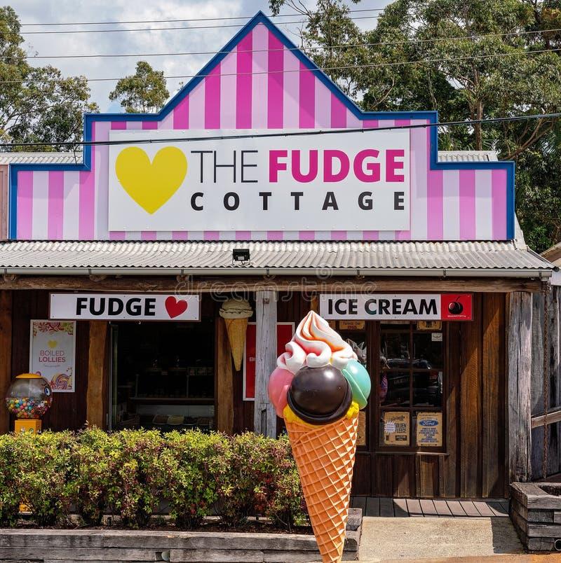 De Fudge Cottage stock afbeeldingen