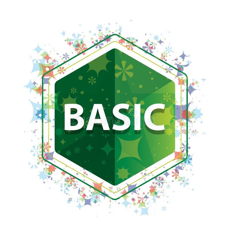 De fundamentele bloemen groene hexagon knoop van het installatiespatroon royalty-vrije illustratie