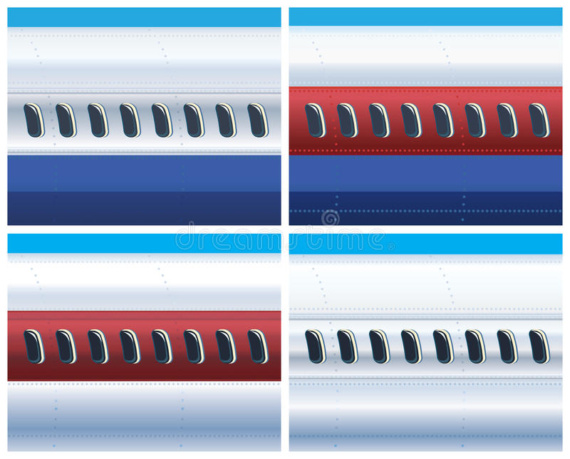 De fuselage van een commercieel vliegtuig vector illustratie