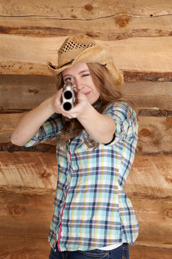 But de fusil de chasse de cow-girl  photos stock