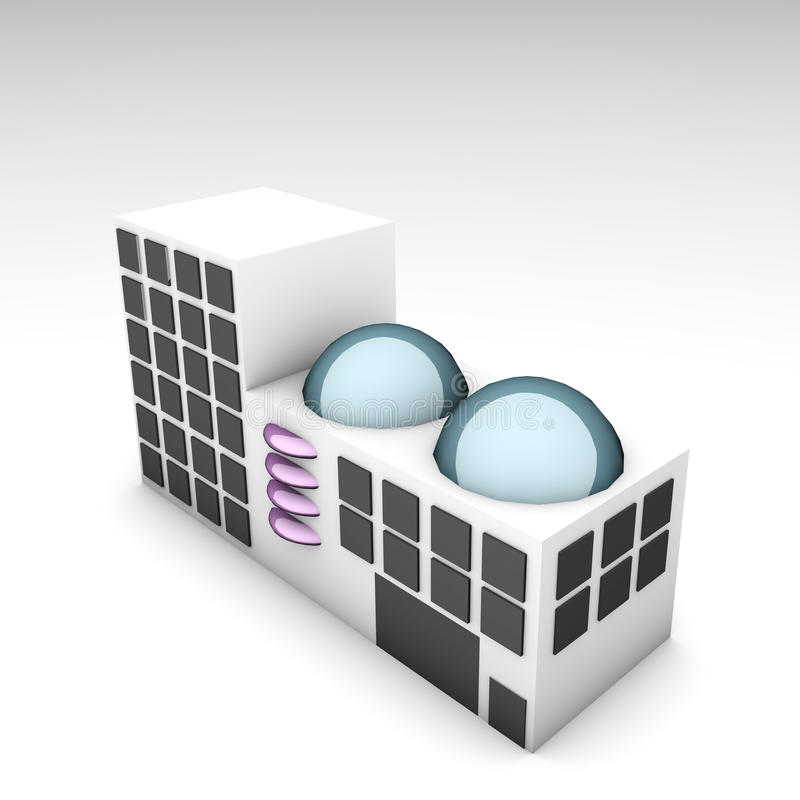 De futuristische Bouw stock illustratie