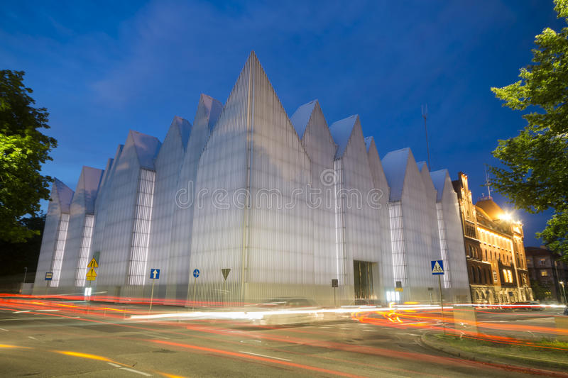 De futuristische bureaubouw in Filharmonische Szczecin stock fotografie