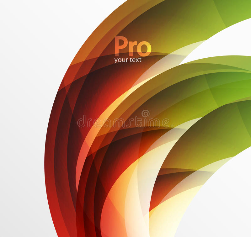 De futuristische hi-tech abstracte achtergrond van de glasgolf Kleuren curvy lijn met glanzend effect stock illustratie