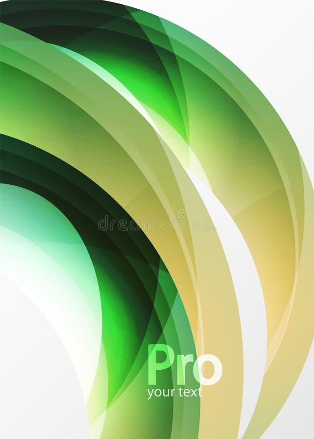 De futuristische hi-tech abstracte achtergrond van de glasgolf Kleuren curvy lijn met glanzend effect royalty-vrije illustratie