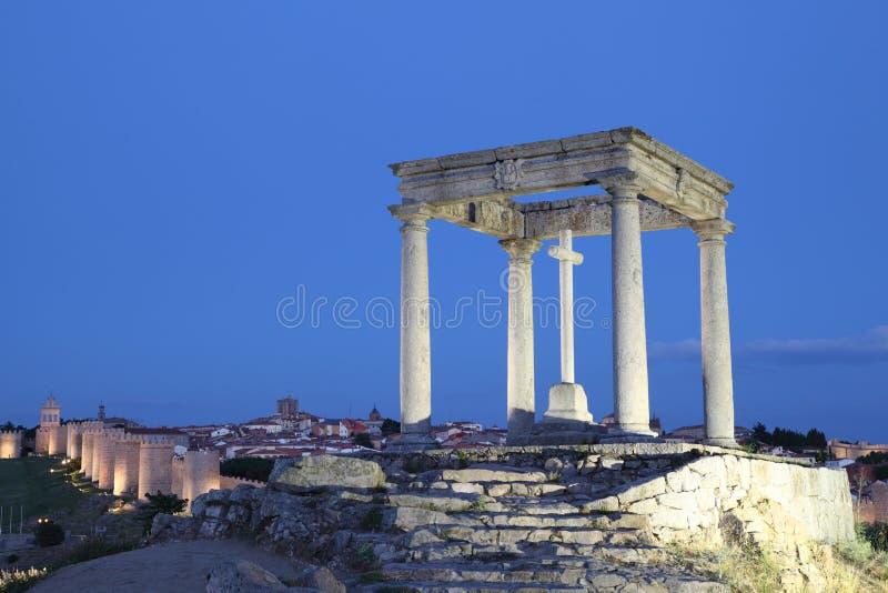 De fyra polerna, Avilaen, castilen och Leonen, Spanien royaltyfri foto