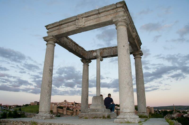 De fyra stolparna - Avila - Spanien royaltyfria foton