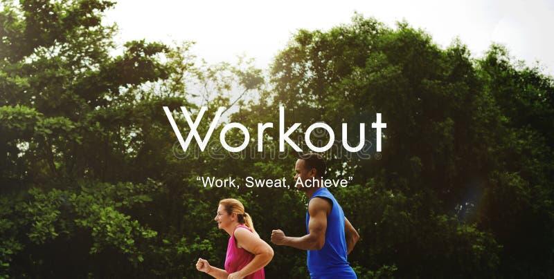 De Fysische activiteit die van de trainingoefening Cardioconcept opleiden royalty-vrije stock foto