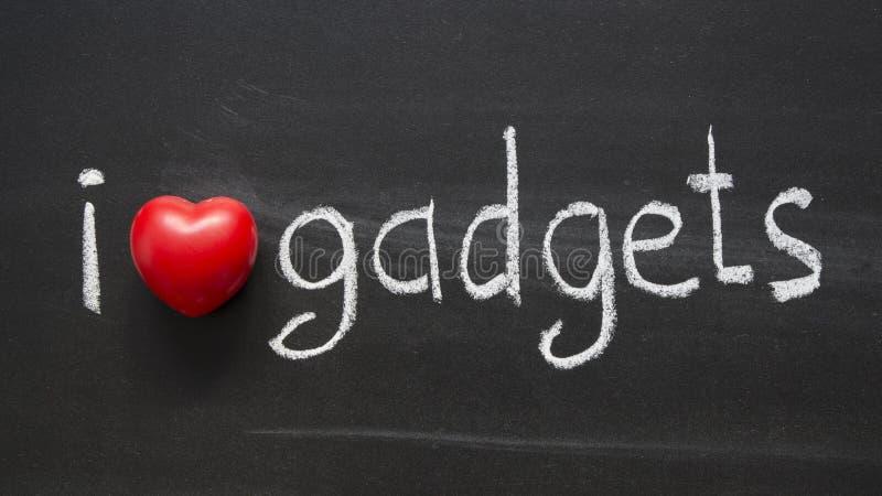 De gadgets van de liefde stock afbeeldingen