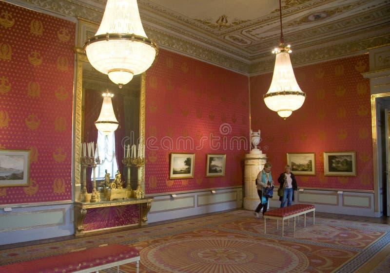 De galerij rode budoir van Albertina royalty-vrije stock afbeelding