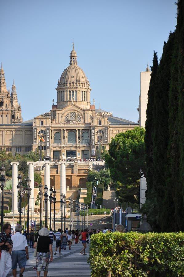 De galerij van Barcelona stock foto's