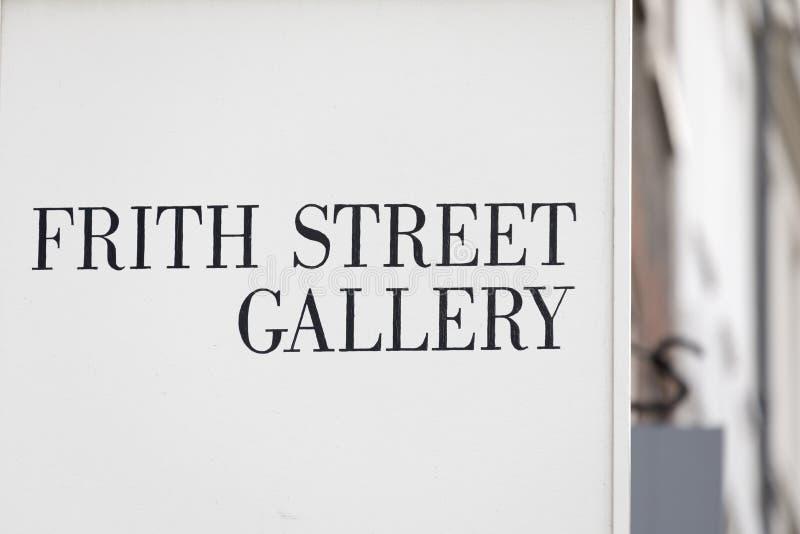 De Galerij van de Frithstraat, Soho - Londen stock foto