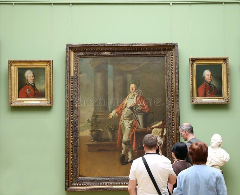 De Galerij van Tretyakov van de staat is een kunstgalerie in Moskou, Rusland, de belangrijkste opslagruimte van Russische fijne k royalty-vrije stock foto