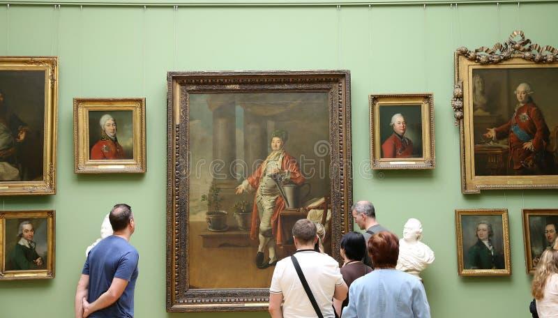 De Galerij van Tretyakov van de staat is een kunstgalerie in Moskou, Rusland, de belangrijkste opslagruimte van Russische fijne k royalty-vrije stock fotografie
