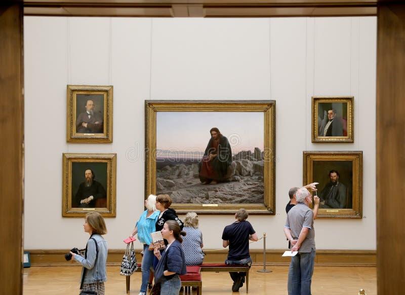 De Galerij van Tretyakov van de staat is een kunstgalerie in Moskou, Rusland, de belangrijkste opslagruimte van Russische fijne k stock afbeelding