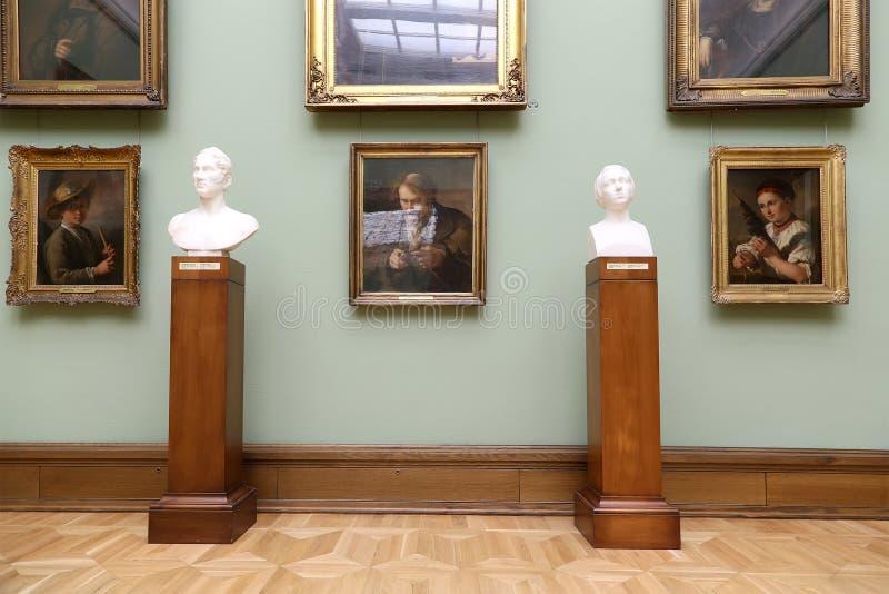 De Galerij van Tretyakov van de staat is een kunstgalerie in Moskou, Rusland, de belangrijkste opslagruimte van Russische fijne k stock afbeeldingen