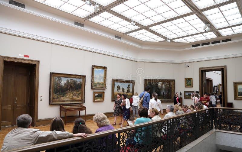 De Galerij van Tretyakov van de staat is een kunstgalerie in Moskou, Rusland, de belangrijkste opslagruimte van Russische fijne k stock fotografie