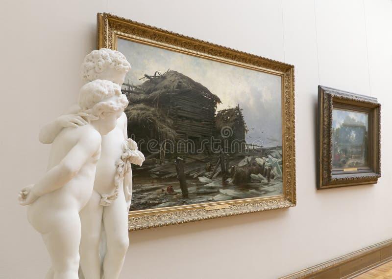 De Galerij van Tretyakov van de staat is een kunstgalerie in Moskou, Rusland, de belangrijkste opslagruimte van Russische fijne k royalty-vrije stock afbeelding
