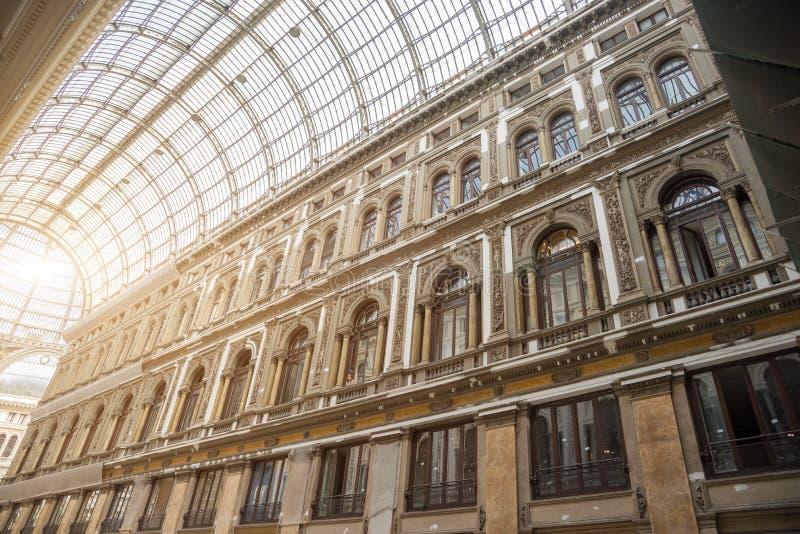 De galerij van Umberto I - Napels - Italië stock afbeelding