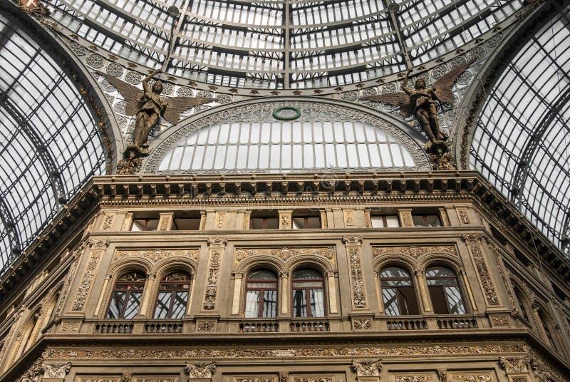 De galerij van Umberto in Napels stock fotografie