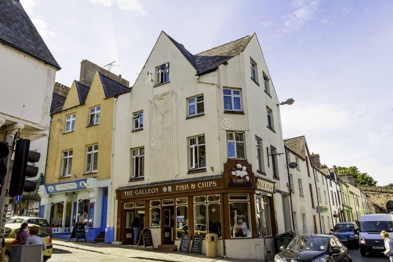 De Galjoenvissen en Chip Shop, Conwy, Noord-Wales royalty-vrije stock afbeelding
