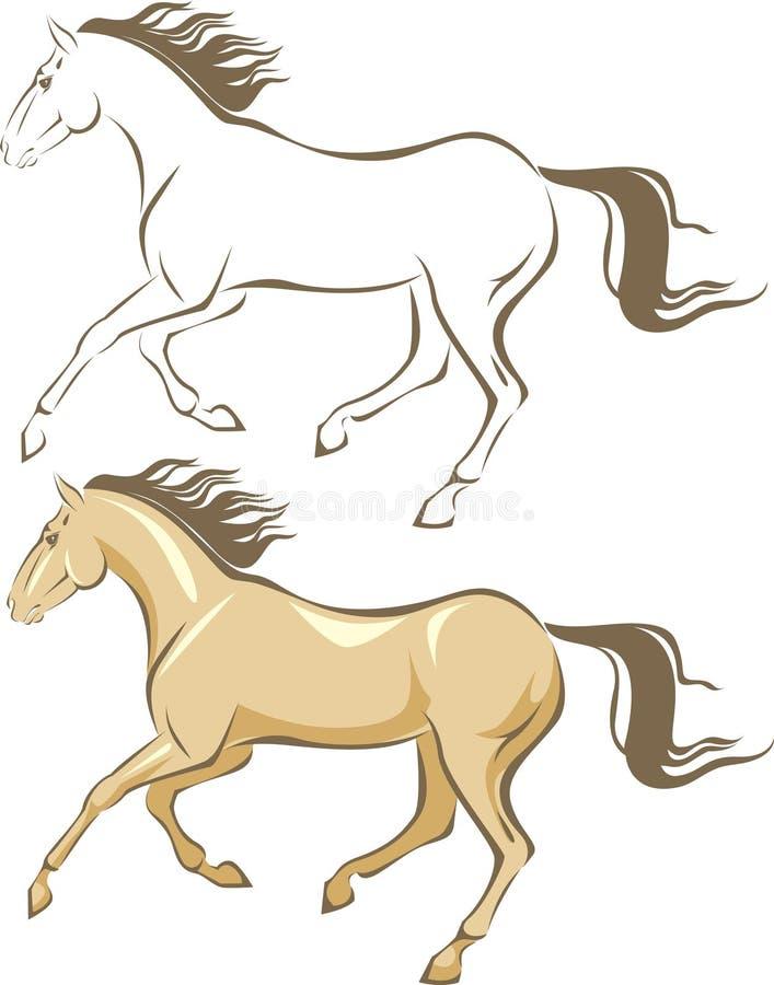De galop van het paard royalty-vrije illustratie