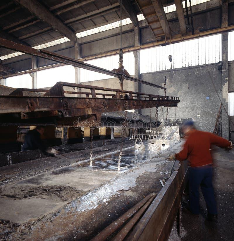 De galvaniserende industrie stock foto's