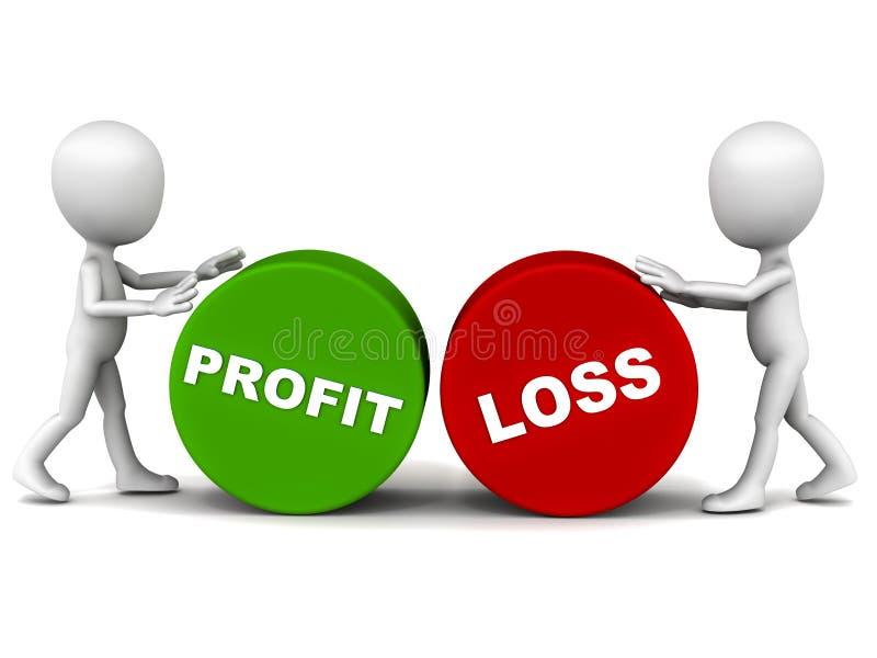 De ganancias y pérdidas ilustración del vector