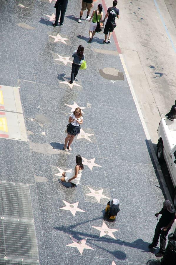 De gang van de Boulevard Hollywood van Bekendheid royalty-vrije stock foto