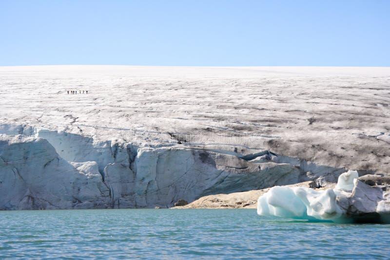 De gang van de gletsjer stock fotografie