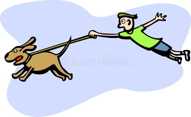 De gang van de hond royalty-vrije illustratie
