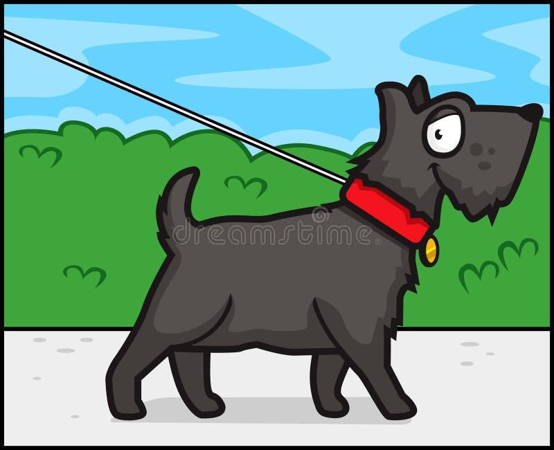De Gang van de hond stock illustratie