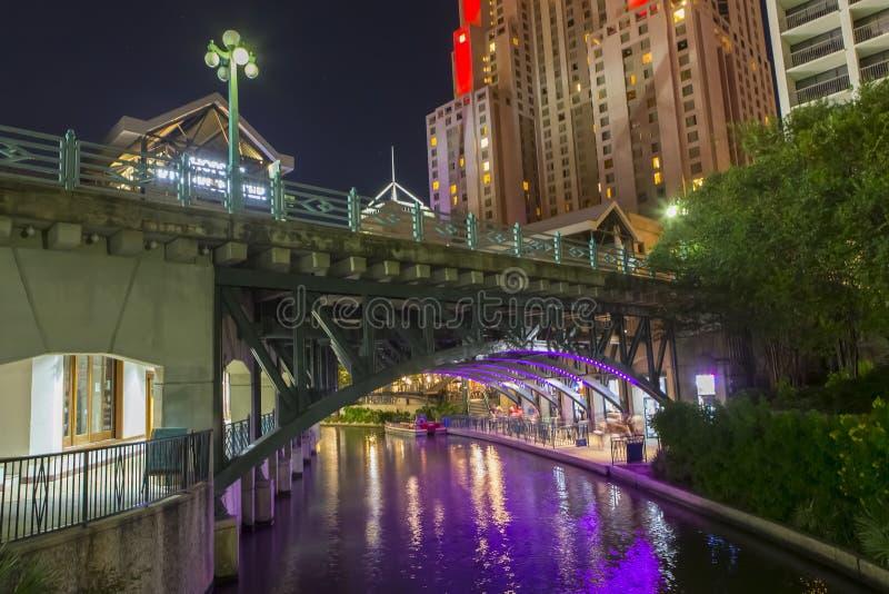 De Gang van de rivier in San Antonio Texas stock afbeeldingen