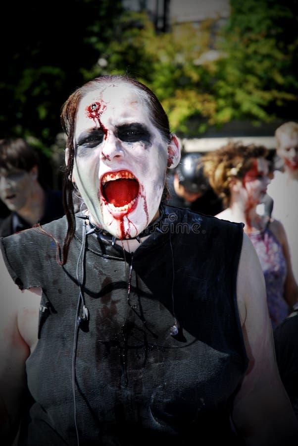 De Gang van de zombie - Vancouver 2008 royalty-vrije stock foto