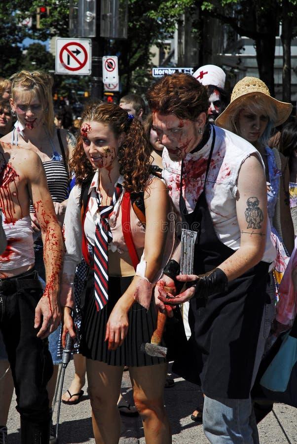 De Gang van de zombie - Vancouver 2008 stock fotografie