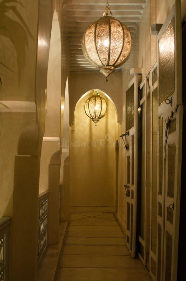 De Gang van het Hotel van Marrakech royalty-vrije stock foto