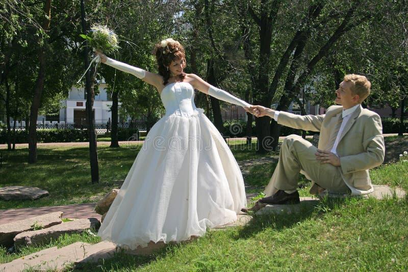 De gang van het huwelijk stock fotografie