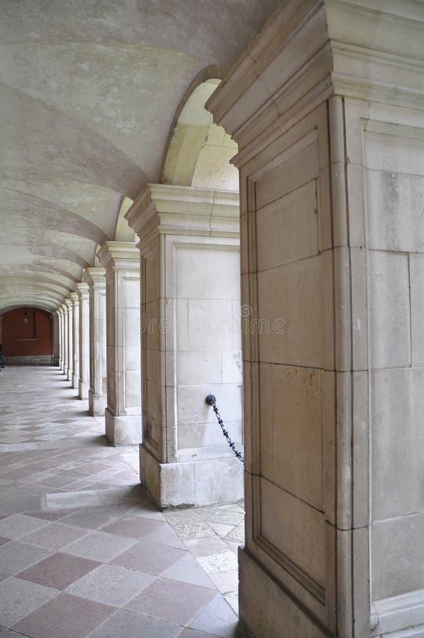 De Gang van het Paleis van het Hampton Court stock afbeeldingen