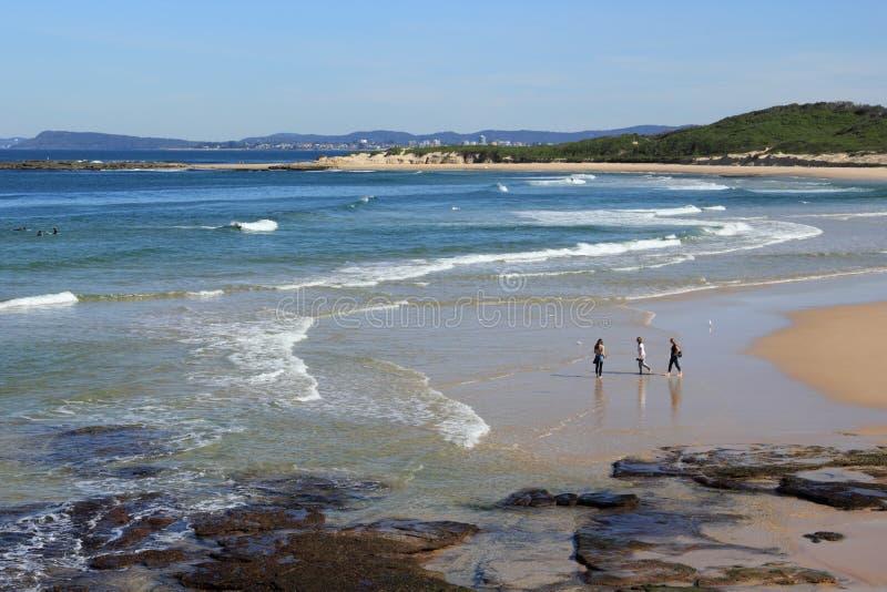 De gang van het strand stock foto's
