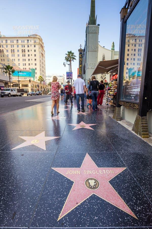 De Gang van Hollywood van Bekendheid royalty-vrije stock afbeeldingen