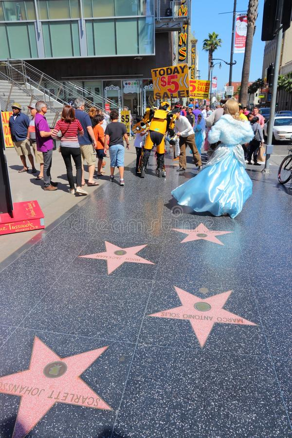 De Gang van Hollywood van Bekendheid royalty-vrije stock fotografie