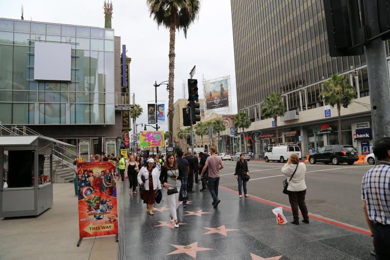 De Gang van Hollywood van Bekendheid royalty-vrije stock foto