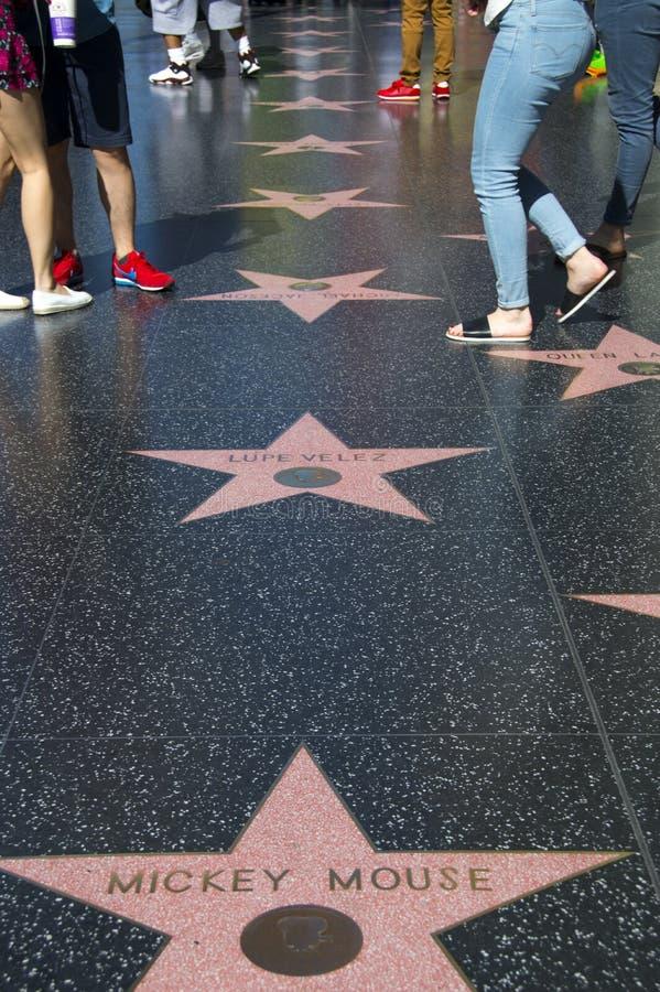 De Gang van Hollywood van Bekendheid stock afbeeldingen